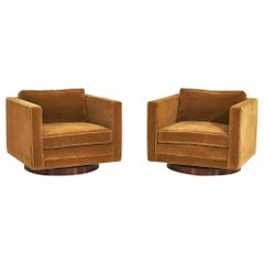 Harvey Probber Cube Swivel Chairs, Model no. 1461