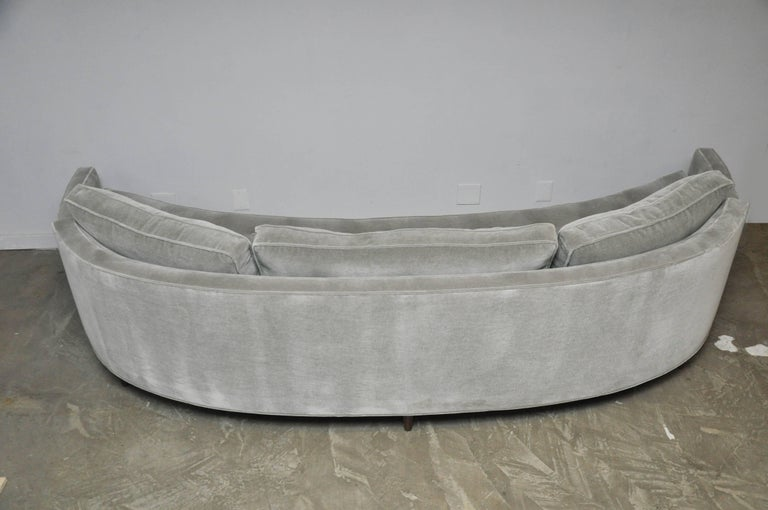 Harvey Probber Attributed Curved Front Sofa For Sale 3