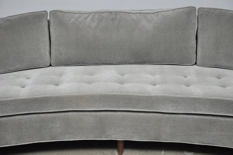 American Harvey Probber Attributed Curved Front Sofa For Sale