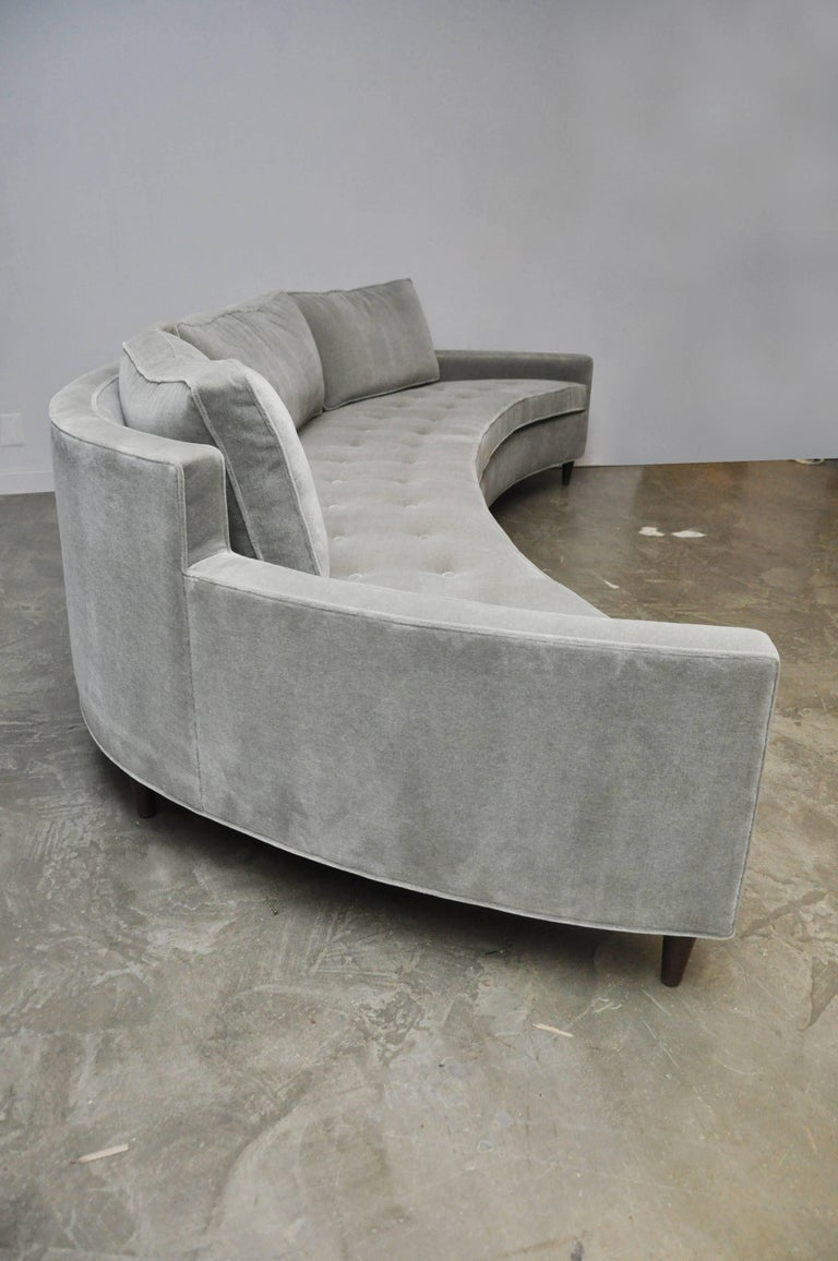 Harvey Probber Attributed Curved Front Sofa For Sale 1