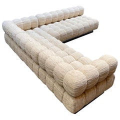 Harvey Probber Deep Tuft Sectional Sofa