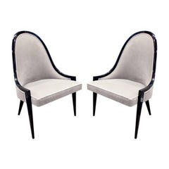 Harvey Probber Elegant Pair of Side Chairs, 1950s