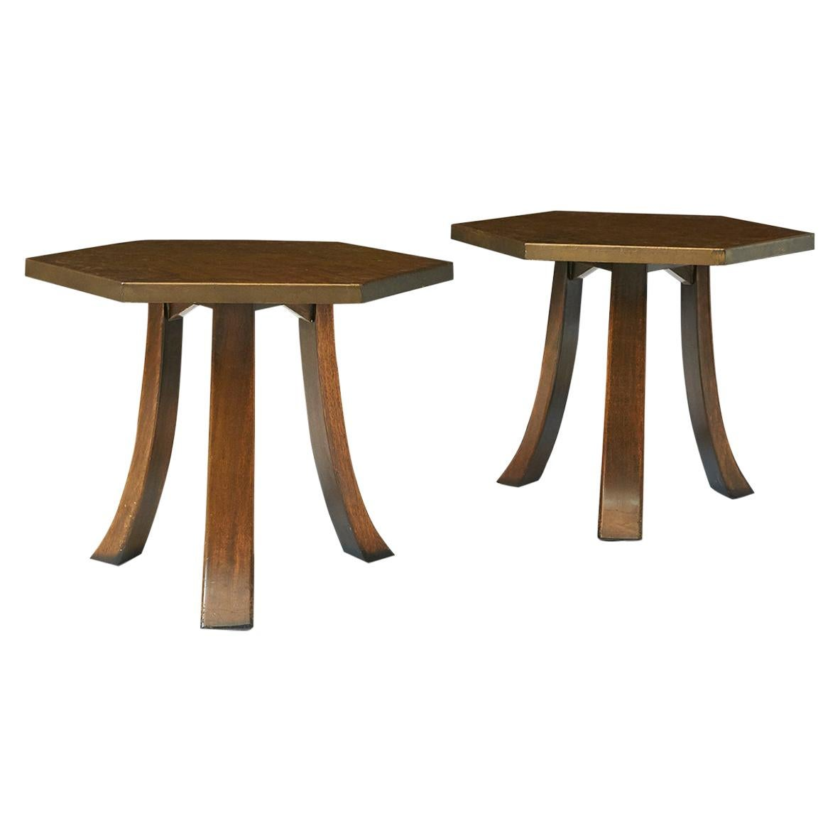 Harvey Probber Hexagon Side Tables