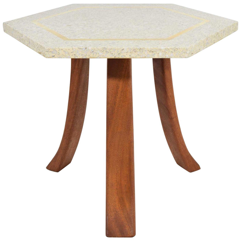 Harvey Probber Hexagonal Terrazzo Side Table
