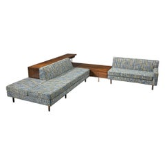 Harvey Probber Lounge Set in Mahogany and Fabric