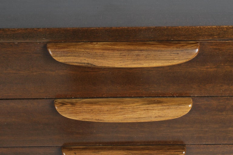 Harvey Probber Mahogany and Rosewood Chest of Drawers In Good Condition For Sale In St. Louis, MO