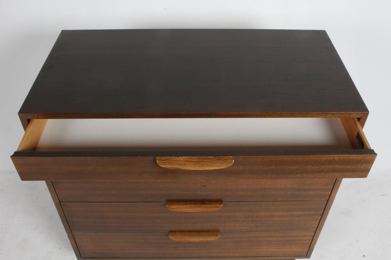 Mid-20th Century Harvey Probber Mahogany and Rosewood Chest of Drawers For Sale