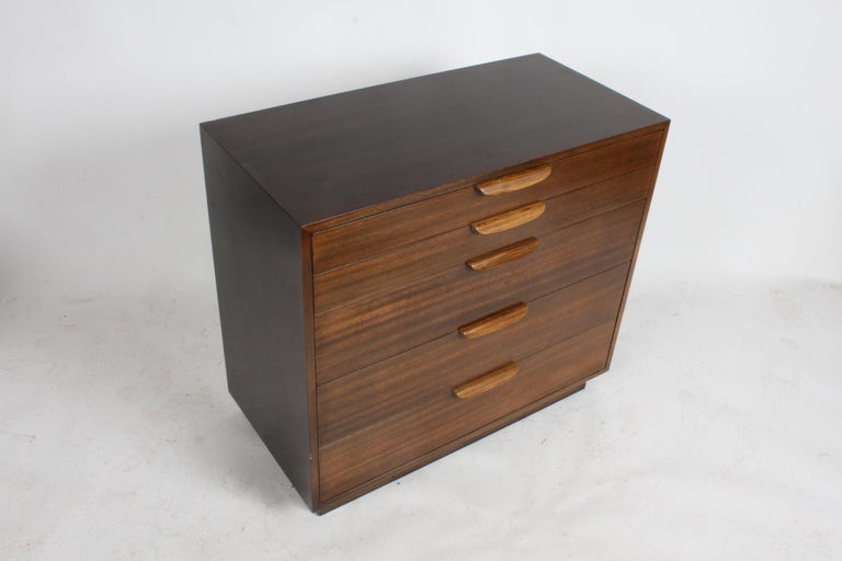 Harvey Probber Mahogany and Rosewood Chest of Drawers For Sale 2