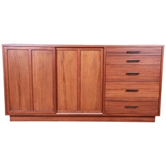 Harvey Probber Mahogany Sideboard Credenza or Bar Cabinet, Newly Restored