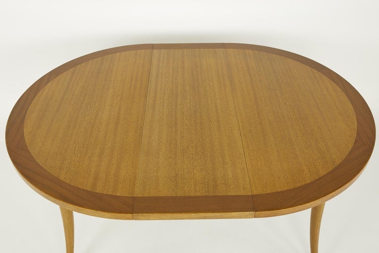 Harvey Probber MCM Saber Leg Extension Bleached Mahogany Dining Table For Sale 4