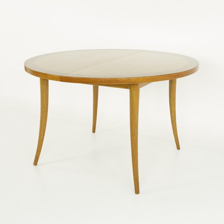 Mid-Century Modern Harvey Probber MCM Saber Leg Extension Bleached Mahogany Dining Table For Sale