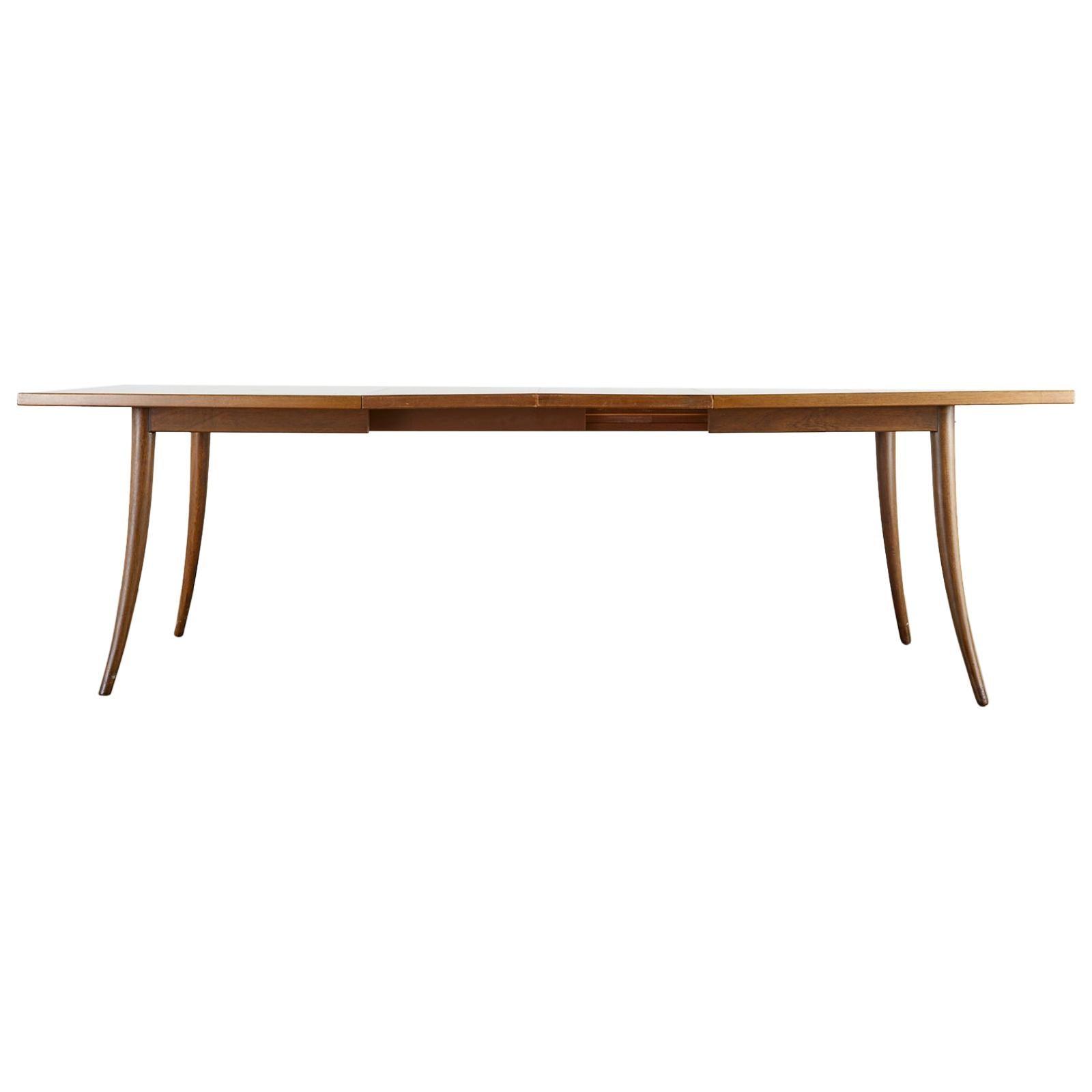 Harvey Probber Midcentury Saber Leg Extension Dining Table
