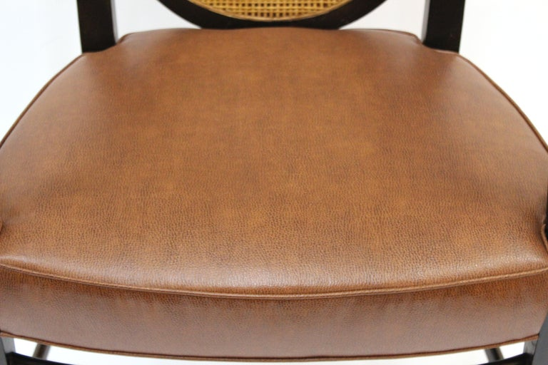 Mid-Century Modern Armchairs with Caned Backs Seat Attributed to Harvey Probber  For Sale 5