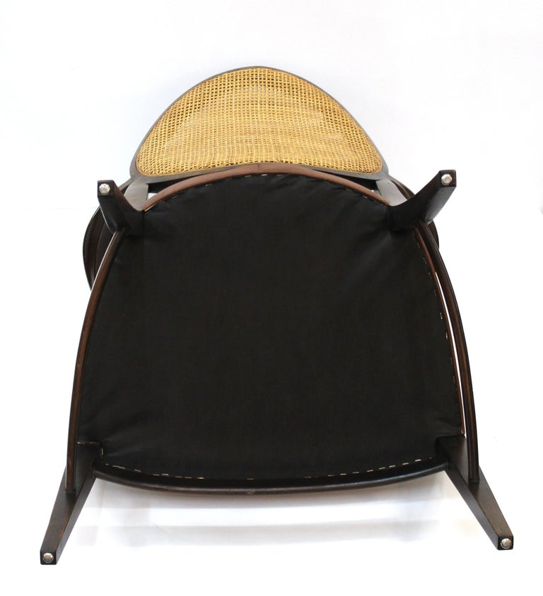 Mid-Century Modern Armchairs with Caned Backs Seat Attributed to Harvey Probber  For Sale 6