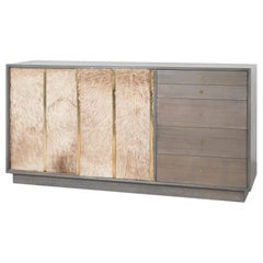 Harvey Probber Mid-Century Modern Credenza with Brazilian Cowhide