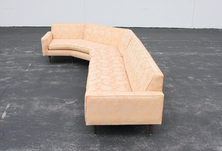 Harvey Probber Mid-Century Modern Nuclear Sert Two-Piece Sectional Sofa In Good Condition For Sale In St. Louis, MO