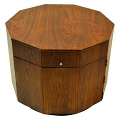 Harvey Probber Mid-Century Modern Octagonal Occasional Rosewood Table / Cabinet