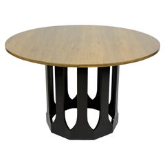 Harvey Probber Mid-Century Modern Pedestal Base Cafe Dining or Game Table