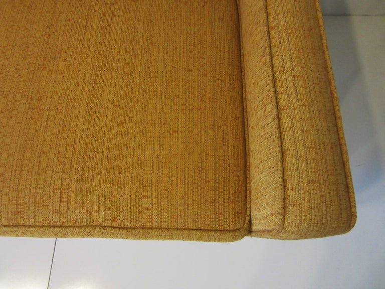 Fabric Mid Century Sofa in the style of Harvey Probber For Sale