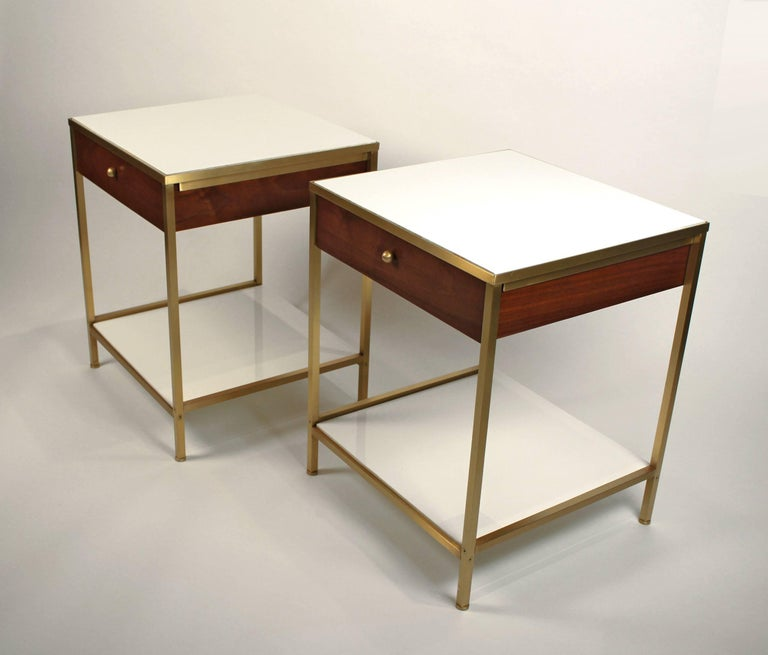 Amazing fully restored Harvey Probber nightstands/ end tables.