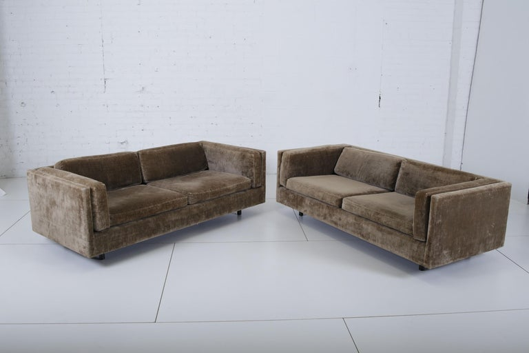 American Harvey Probber Pair of Tuxedo Settees For Sale