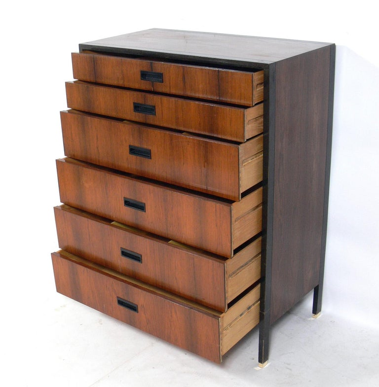 Mid-Century Modern Harvey Probber Rosewood and Mahogany Chest  For Sale