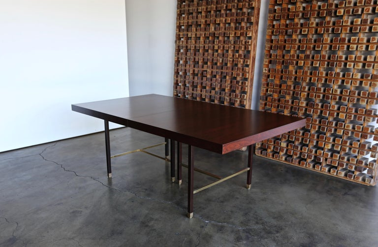 Harvey Probber Rosewood Dining Table, circa 1950 For Sale 4