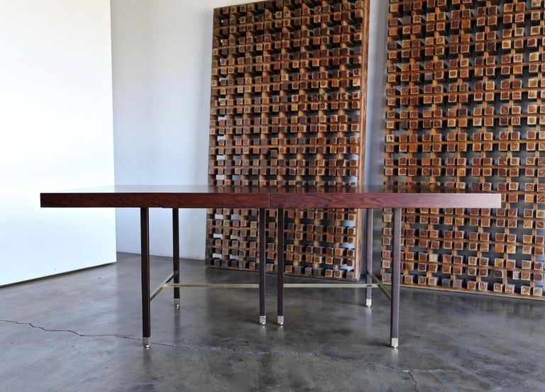Mid-Century Modern Harvey Probber Rosewood Dining Table, circa 1950 For Sale
