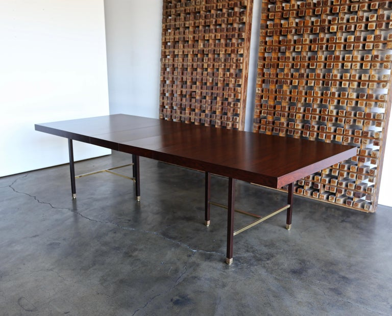 20th Century Harvey Probber Rosewood Dining Table, circa 1950 For Sale