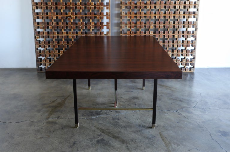 Harvey Probber Rosewood Dining Table, circa 1950 For Sale 1