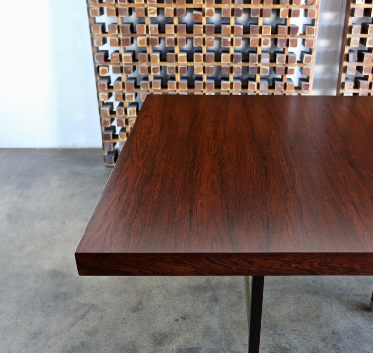 Harvey Probber Rosewood Dining Table, circa 1950 For Sale 2