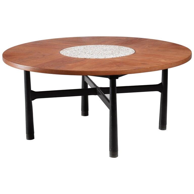 Harvey Probber Round Coffee Table Usa 1960s