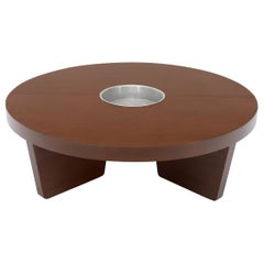Harvey Probber Round Split Circle Nuclear Coffee Table with Planter