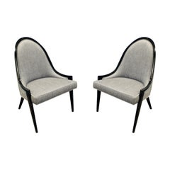Harvey Probber Sculptural Pair of Chairs, 1950s