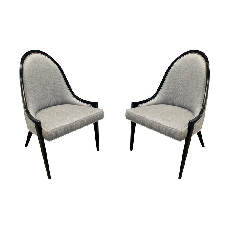 Harvey Probber Sculptural Pair of Chairs, 1950s For Sale