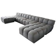 Harvey Probber Sectional Deep Tufted Modular Sofa, 1970s
