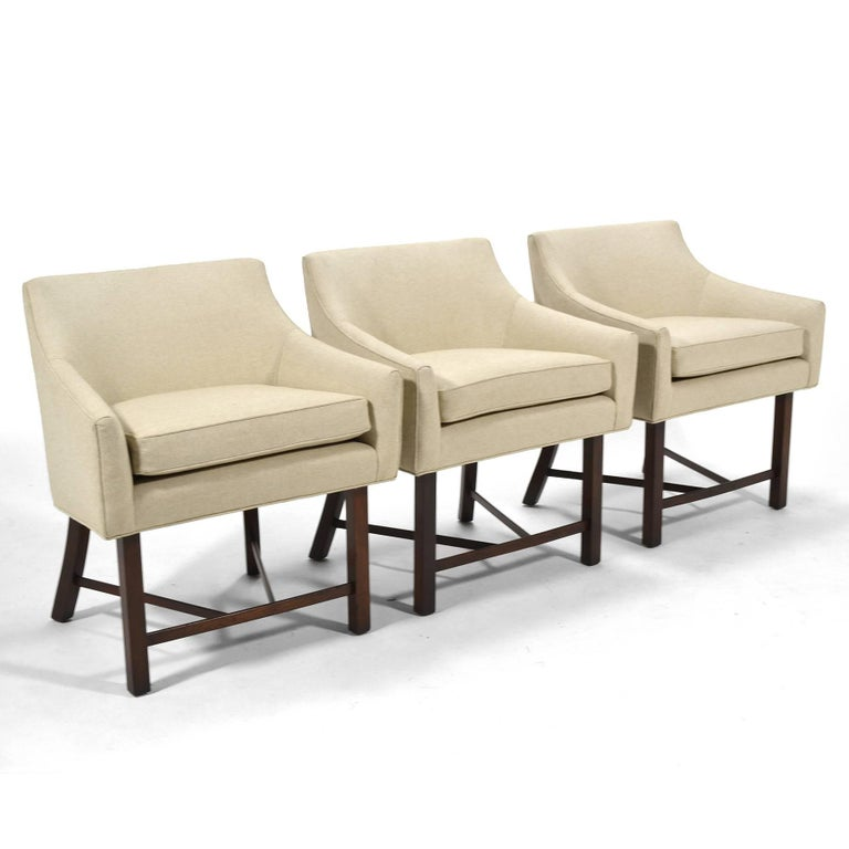Mid-Century Modern Harvey Probber Set of Three Armchairs For Sale