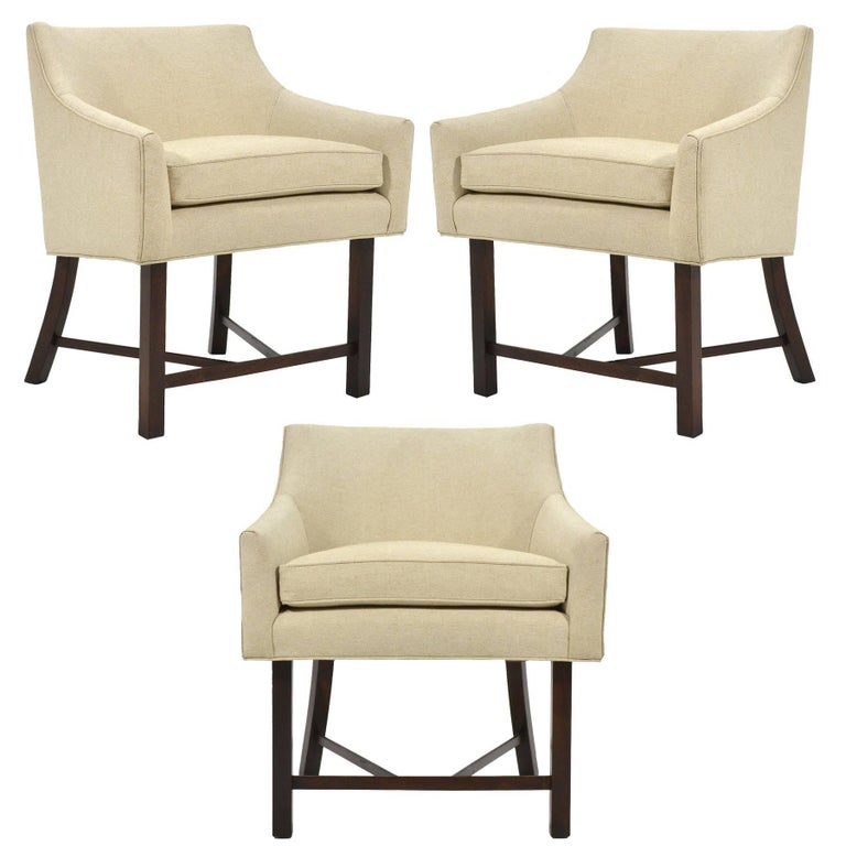 Harvey Probber Set of Three Armchairs For Sale