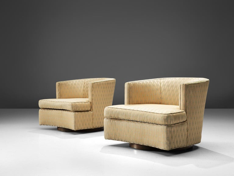 Mid-Century Modern Harvey Probber Set of Two Swivel Chairs For Sale