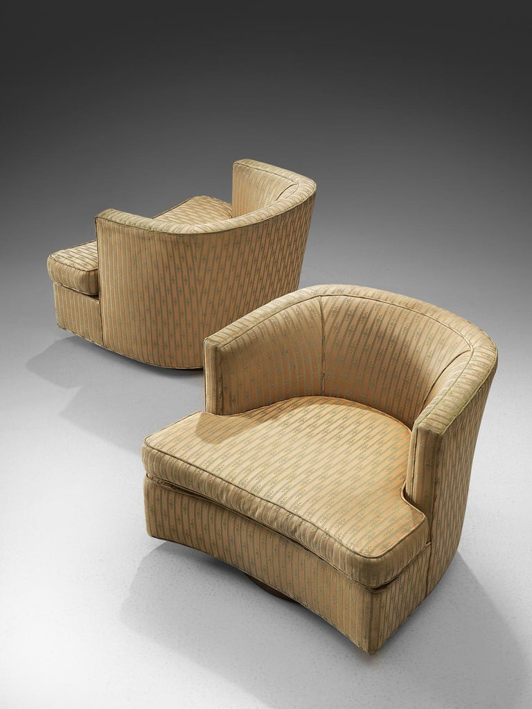 Harvey Probber Set of Two Swivel Chairs In Good Condition For Sale In Waalwijk, NL