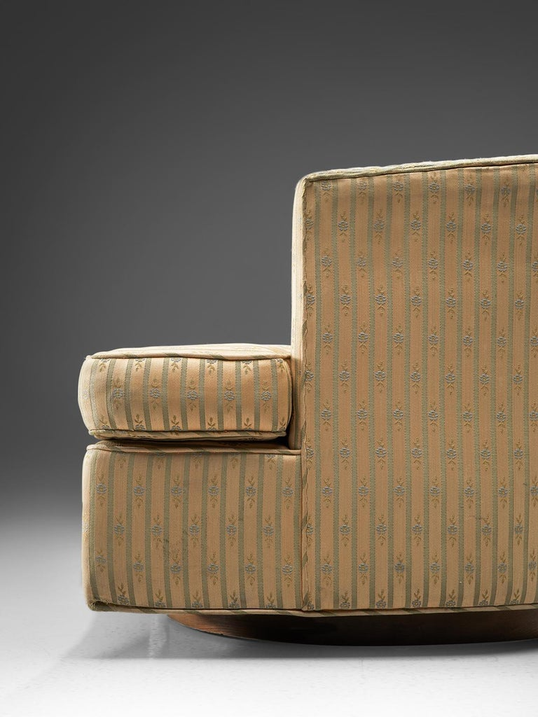 Fabric Harvey Probber Set of Two Swivel Chairs For Sale