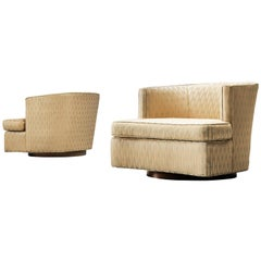 Harvey Probber Set of Two Swivel Chairs