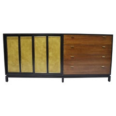 Harvey Probber Signed Sideboard in Mahogany with Gold Trim, 1960s