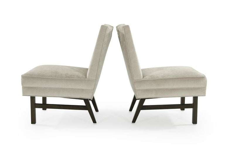 Mid-Century Modern Harvey Probber Slipper Chairs, 1950s For Sale