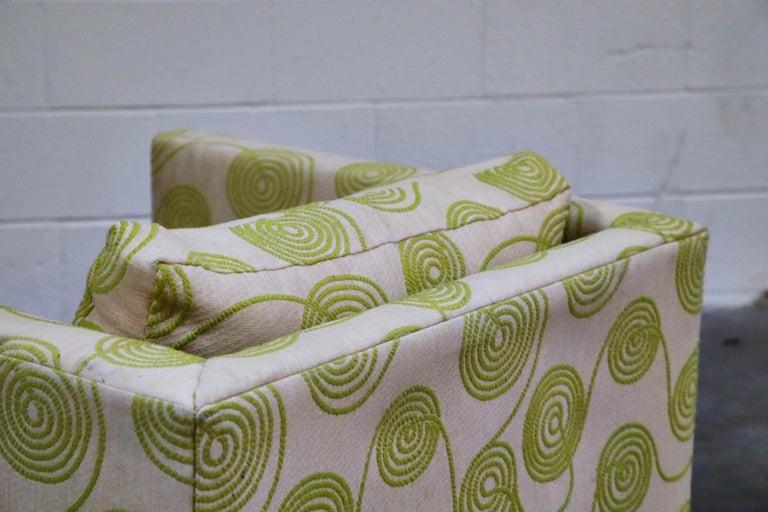 Harvey Probber Swivel Club Chair in Original Fabric, circa 1960, Signed 7