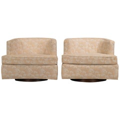 Harvey Probber Swivel Tub Chairs