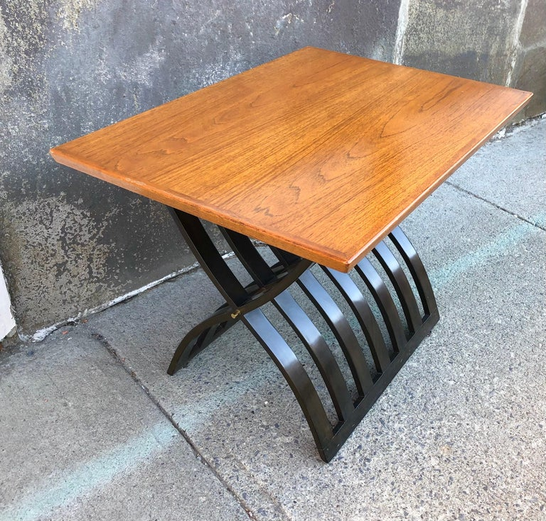 Harvey Probber Teak and Mahogany Side Table For Sale 4