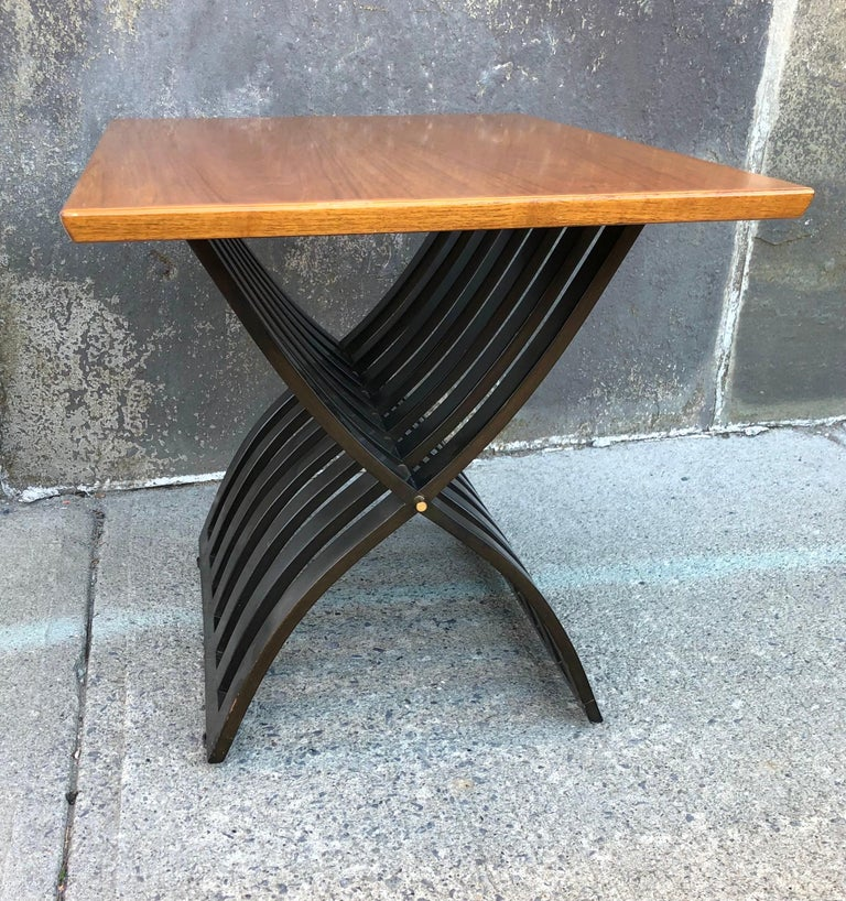 Harvey Probber Teak and Mahogany Side Table For Sale 5