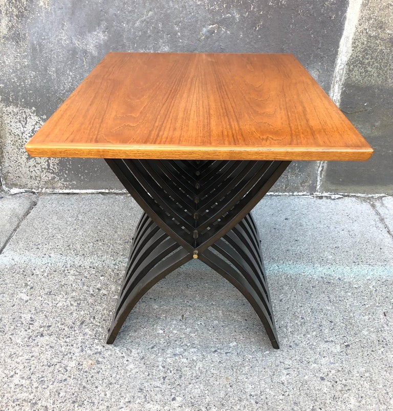 Harvey Probber Teak and Mahogany Side Table For Sale 6