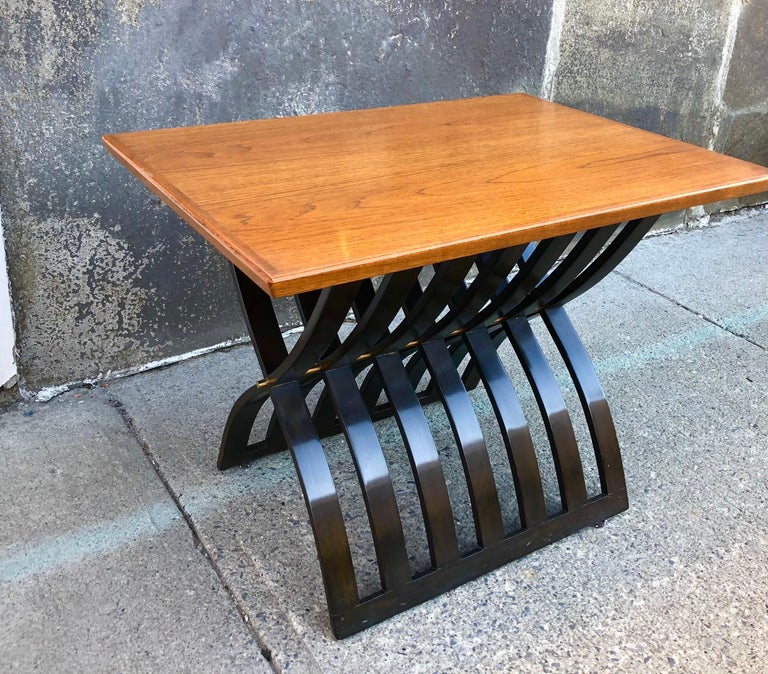 Harvey Probber Teak and Mahogany Side Table For Sale 7